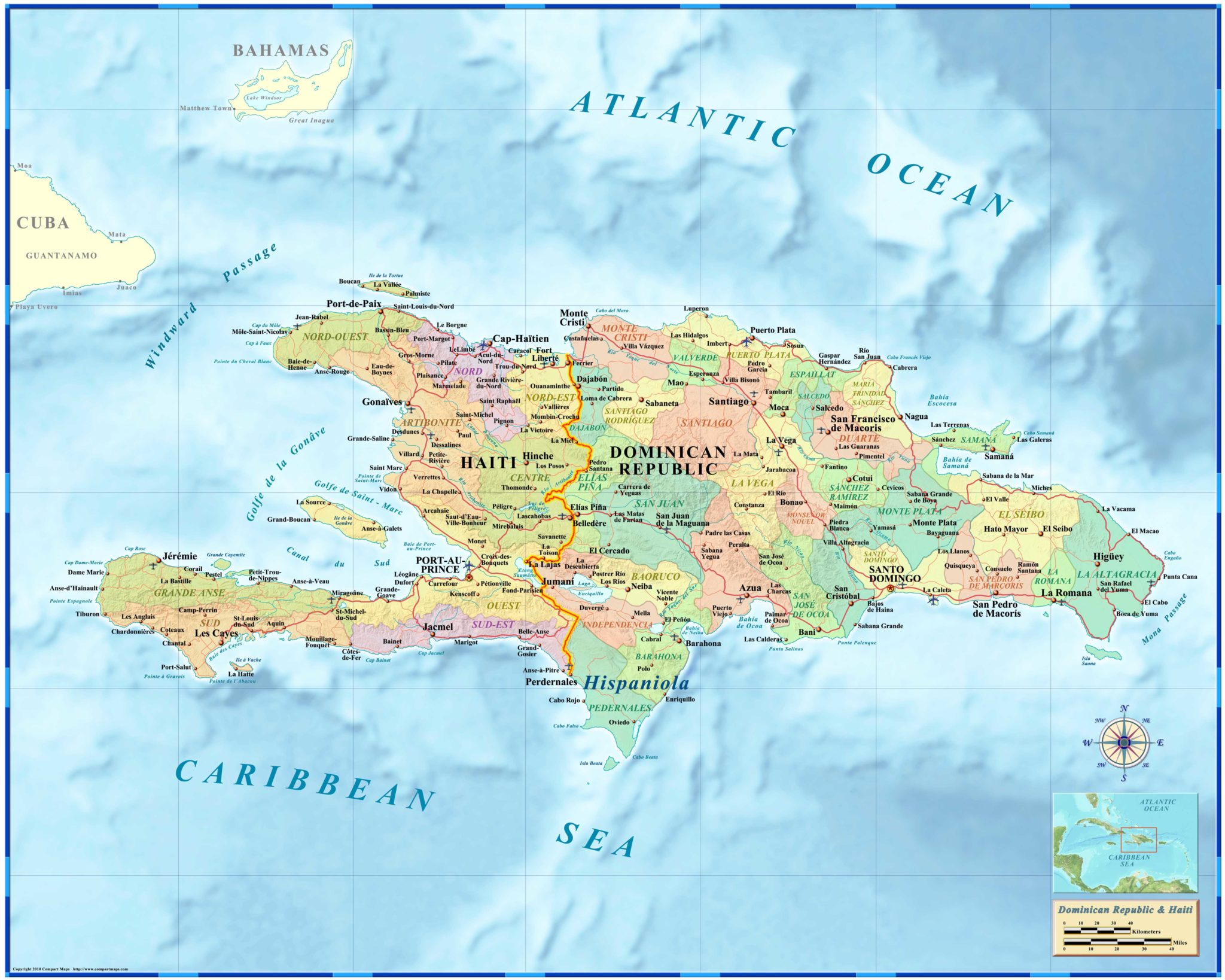 Haiti / Dominican Republic Wall Map on cancun world map, grenada world map, indonesia world map, cuba world map, ecuador world map, guatemala world map, haiti world map, jamaica world map, aruba world map, panama world map, peru world map, bahamas world map, honduras world map, philippines world map, portugal world map, caribbean map, mexico world map, st. lucia world map, samoa world map,