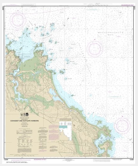 Noaa Chart Cohasset And Scituate Harbors 13269 The Map Shop