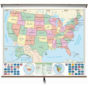 Map Of Canada 6th Grade.Classroom Maps Elementary Middle High School College Map Shop