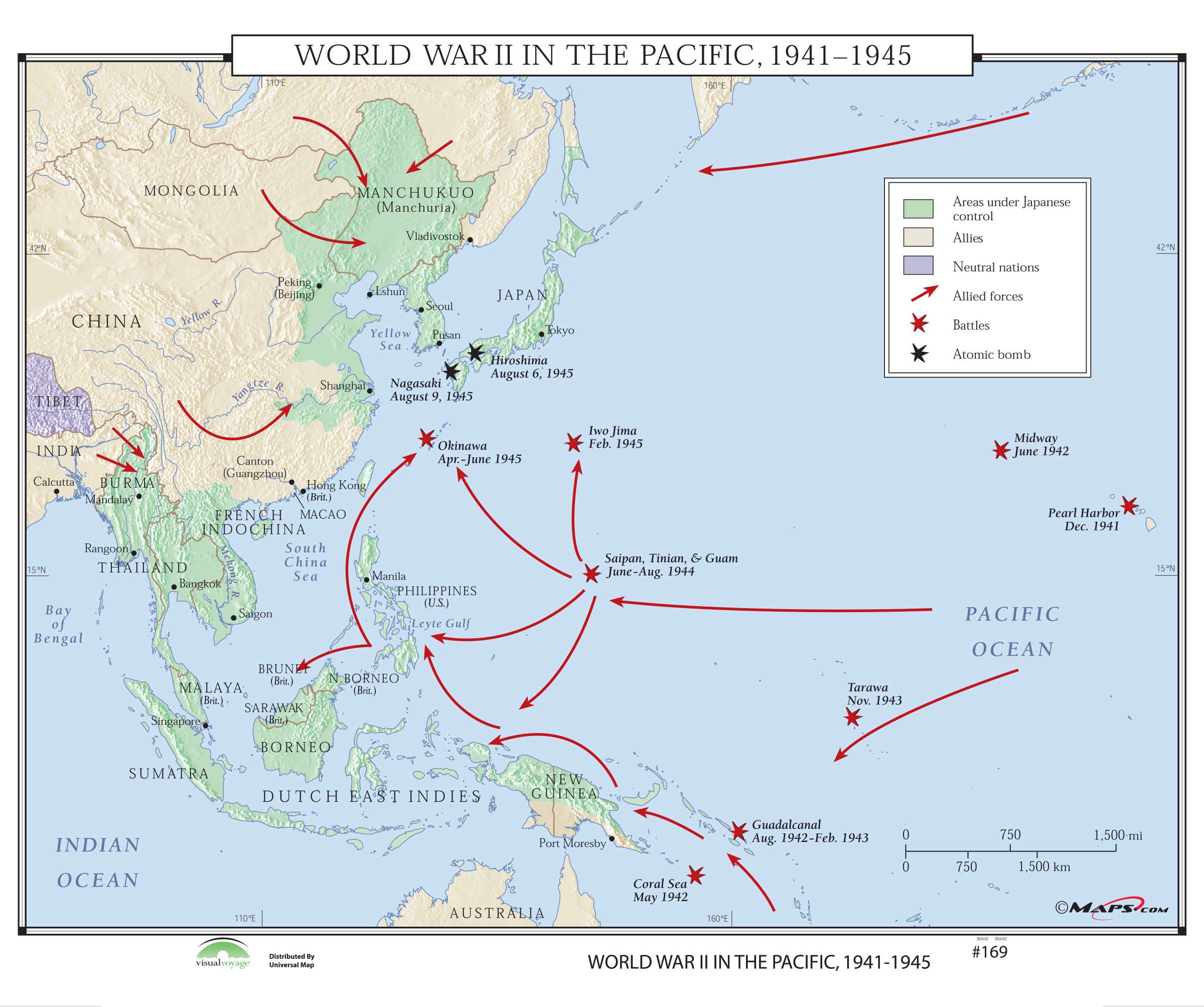 #169 World War II in the Pacific, 1941-1945 on Roller w ...