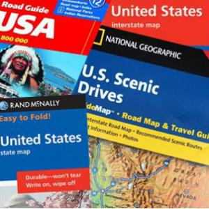 Folding United States Travel Maps Regional State City Map Shop - Us-road-maps-for-sale