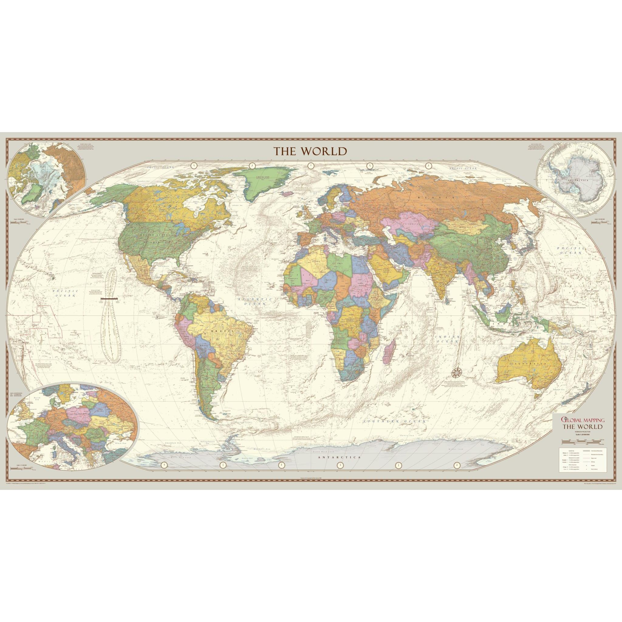 Antique Style World Map - Extra Large on global accounting, global infrastructure, global manufacturing, global development, global advertising, global statistics, global engineering, global security,