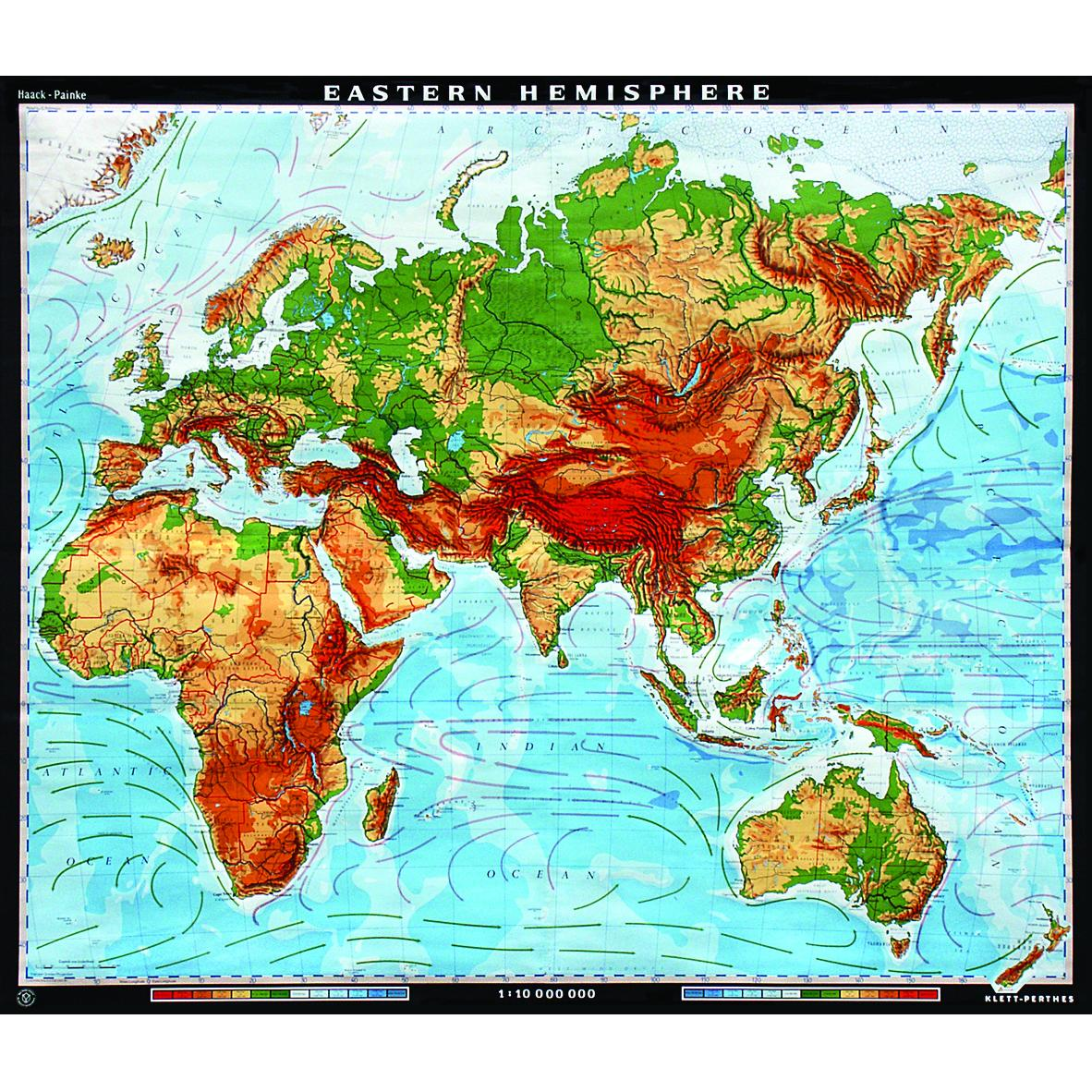 Image of: The Eastern Hemisphere Physical Map The Map Shop