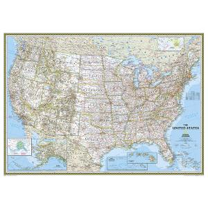 U.S. Wall Maps - Laminated, Framed, Rails, Spring Rollers ...
