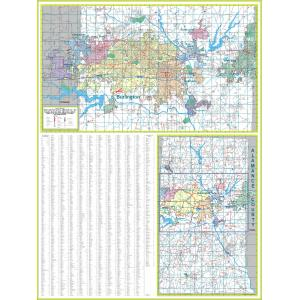 35.75 x 26.5 Paper Color Blind Friendly Political Wall Map of North America
