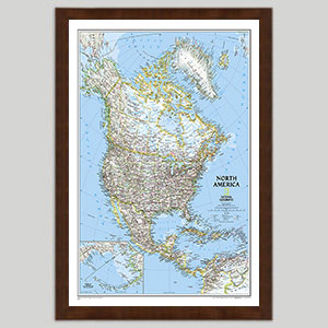 North America Continent Wall Maps