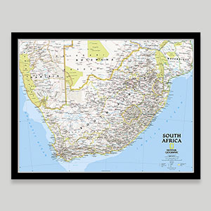 African Country Wall Maps