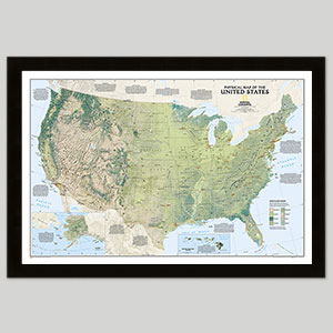 Physical U.S. Maps