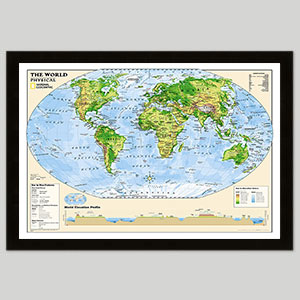 Physical World Maps